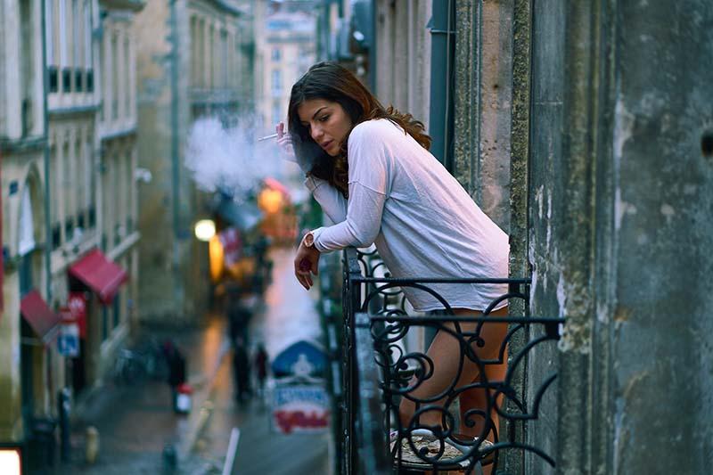 seks na balkonie